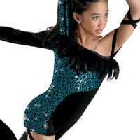 Funky Sequin Feather Unitard; Weissman Costumes
