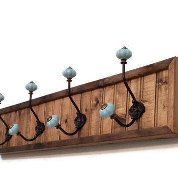 Bead Board Coat Rack  Coat and Hat Rack by barbwireandbarnwood