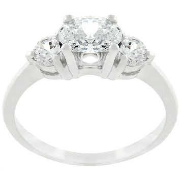 Miranna Three Stone Oval Engagement Ring  | 1.5ct | Cubic Zirconia