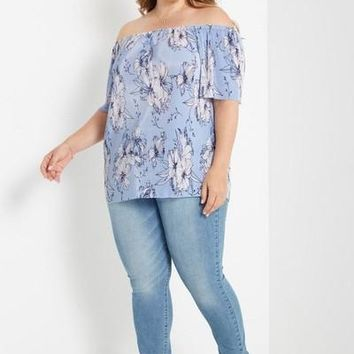 The Oriental Lily Off Shoulder Top