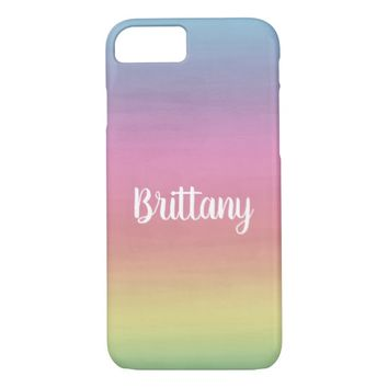 Pastel Rainbow Personalized iPhone 8/7 Case