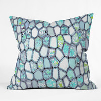 Ingrid Padilla Blue Cells Throw Pillow