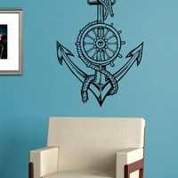 Anchor Version 5 Nautical Ocean Beach Decal Sticker Wall Vinyl Art Decor