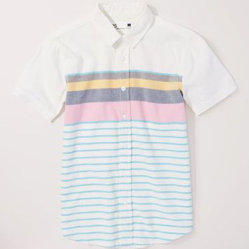 p.s. from Aéropostale White & Blue Stripe Button-Up - Boys