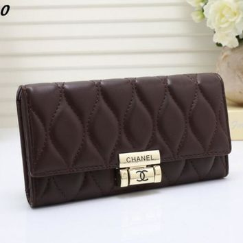 CHANEL Leather Purse Wallet Satchel For Women H-MYJSY-BB