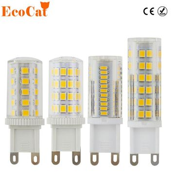 ECOCAT LED g9 bulb 220v bombillas 3W 5W 7W 9W 12W light replace 30W 50W 60W halogen lamp for Chandelier