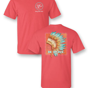 Sassy Frass Comfort Colors Be Brave Feathers Bright Girlie T Shirt