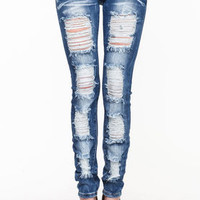 Shredded Skinny Jeans - LoveCulture
