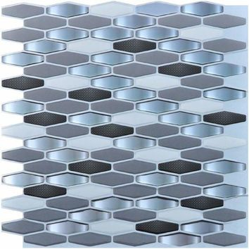 ONETOW Peel and Stick Kitchen Backsplash Wall Tiles Vinyl Wall Stickers, 12' x 12' Pack of 6