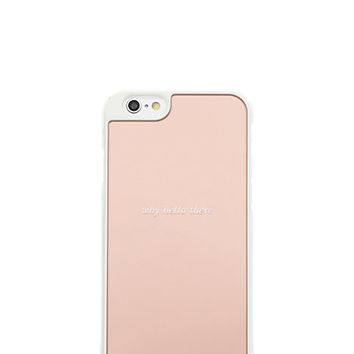 Kate Spade Why Hello There Mirrored Iphone 6 Case Rose Gold ONE