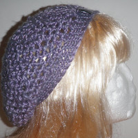 Radiant Orchid crochet beanie, radiant orchid crochet beret