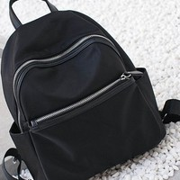 Mini Satchel Backpack - Black