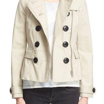 Burberry Brit 'Brookleigh' Short Trench Coat | Nordstrom