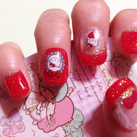 Hello Kitty Nail Art, fake nails, japanese nail art kawaii