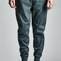 Bullhead Denim Co. Dark Slate Drawstring Skinny Jogger Pants - Mens Pants - Black