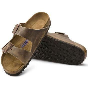 Birkenstock Arizona Soft Footbed Oiled Leather Tobacco Brown 0552811/0552813 Sandals