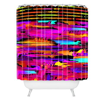 Holly Sharpe Colorful Chaos 2 Shower Curtain