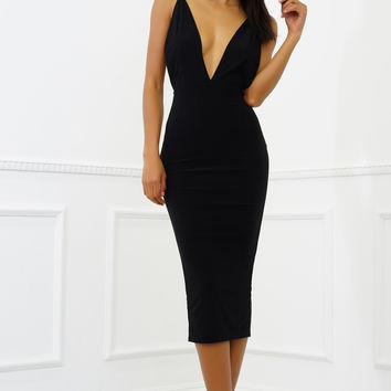 Siri Midi Dress - Black