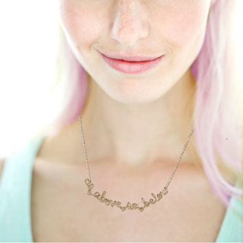 As Above So Below Necklace - Alchemy Quote Jewelry - Hermetic White Magic Mystic Oracle