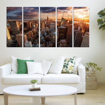 modern art New York skyline wall art canvas, New York canvas prints, Extra Large wall art New York photo Print, home decor no:8s94-5