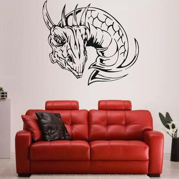 ik1594 Wall Decal Sticker Dragon mythical animal living bedroom teens
