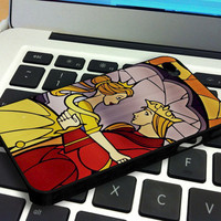 Beauty and The Beast Stained Glass 2 iPhone 4 iPhone 4S Case