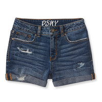 PS from Aero  Kids' High-Waisted Destroyed Cuffed Shorty Shorts