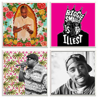 Biggie and Tupac Coasters, Biggie Smalls, The notorious big, Tupac Shakur, Rappers, Music Decor, Hip Hop, Novelty Coasters, East vs West