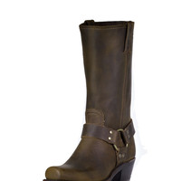 Frye Women's Crazy Horse Harness 12R Boot - Tan