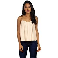 Up & Away Nude Leather Top