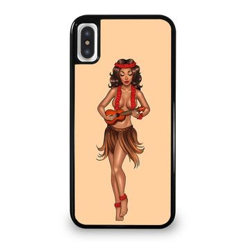 SAILOR JERRY S HULA GIRL iPhone 5/5S/SE 5C 6/6S 7 8 Plus X/XS Max XR Case Cover