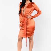 Holiday In Cambodia Dress - Rust