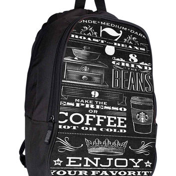 Starbucks Coffee collage 6855d5a5-2ac9-499f-aab5-2680e67a8304 for Backpack / Custom Bag / School Bag / Children Bag / Custom School Bag *02*