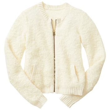 Gap Girls Factory Wool Sweater Bomber Jacket