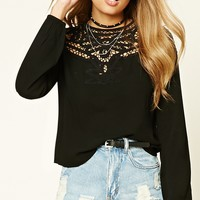 Cutout Back Crochet Top