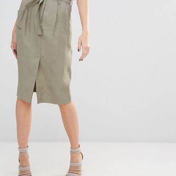 Sisley Tie Waist Skirt at asos.com