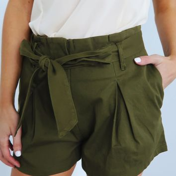 Made For You Shorts: Olive