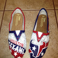 Houston Texans hand painted TOMS