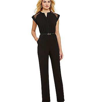 Gibson & Latimer Organza Yoke Jumpsuit - Black