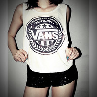 Vans Shirt Crop Top Tank Tops T-Shirt Women