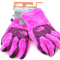 The North Face Denali Thermal Etip Glove Girl's Azalea Pink/Parlour Purple