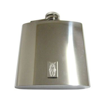 Silver Toned Etched Cicada Bug 6 Oz. Stainless Steel Flask