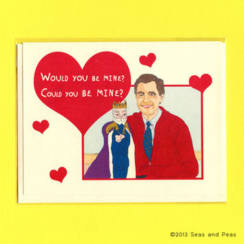 MISTER ROGERS I LOVE You Card - Mister Rogers Card - Mister Rogers - Cute Love Card - Funny Love Card - Funny Valentine Card - King Friday