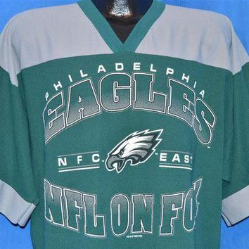 ONETOW 90s Philadelphia Eagles NFL on Fox Jersey t-shirt Large