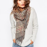 New Look Herritage Check Scarf at asos.com
