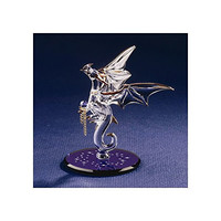 Dragon with Stars Crystal Accented Glass Figurine