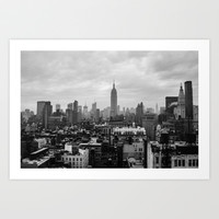 New York City Skyline Art Print by MikeMartelli
