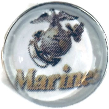 US Military Marines 18MM - 20MM Fashion Snap Jewelry Snap Charm New Item