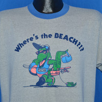 80s Where's the Beach Alligator Florida t-shirt Large