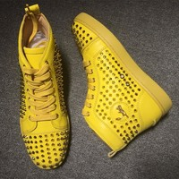 Cl Christian Louboutin Louis Spikes Style #1842 Sneakers Fashion Shoes - Best Online Sale